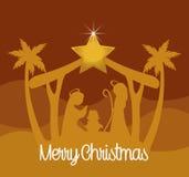 Design för glad jul royaltyfri illustrationer