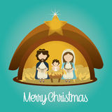Design för glad jul stock illustrationer