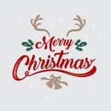 Design för glad jul, för lyckligt nytt år, logo- & symbol, vektor il stock illustrationer