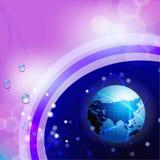 Design för globalt nätverk Arkivfoto
