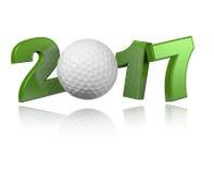 Design för golf 2017 vektor illustrationer