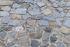 Design för grund för bakgrund för modell för grå färger för kullersten för granitstenar gammal fyrkantig sjaskig royaltyfria foton