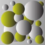 Design för guling- och grå färgbollbakgrund Royaltyfri Bild