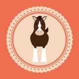Design för hästridning Arkivbild