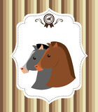 Design för hästridning Arkivfoto