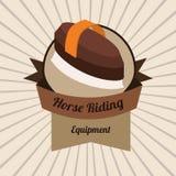 Design för hästridning Royaltyfria Foton