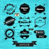 Design för Hipsteretikett- och emblemsymbolsvektor Arkivfoton