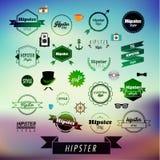 Design för Hipsteretikett- och emblemsymbolsvektor Fotografering för Bildbyråer