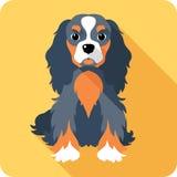 Design för hundsymbolslägenhet vektor illustrationer