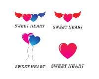 Design för illustration för förälskelseLogo Vector symbol stock illustrationer
