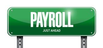 design för illustration för begrepp för lönelistagatatecken stock illustrationer