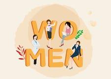 Design för illustration för dag för kvinna` s Fotografering för Bildbyråer