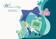 Design för illustration för dag för kvinna` s Royaltyfri Foto