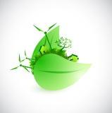 Design för illustration för Eco stadsbegrepp Royaltyfria Foton