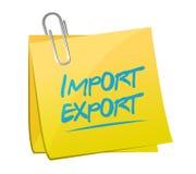 design för illustration för import- och exportminneslistastolpe royaltyfria bilder