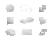 design för illustration för uppsättning för kommunikationsbubblasymbol stock illustrationer
