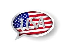 Design för illustration för USA-meddelandebubbla Arkivfoto