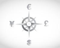 Design för illustration för valutakompasshandbok royaltyfri illustrationer