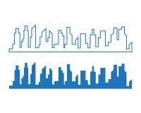 design för illustration för vektor för stadshorisontbakgrund vektor illustrationer