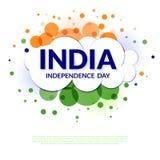 Design för indisk självständighetsdagen Fotografering för Bildbyråer