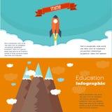 Design för Infographic utbildningsmall framförd illustrationbild för begrepp 3d Arkivfoto