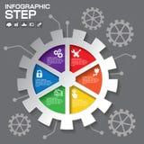 Design för information om kugghjul grafisk, affärsidédesign Fotografering för Bildbyråer