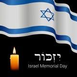 Design för Israel Memorial dagbaner Minns i hebré stock illustrationer