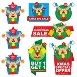 Design för juletikettspris Royaltyfri Bild