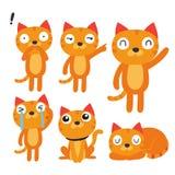 Design för kattteckensamling royaltyfri illustrationer