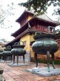 Design för kinesisk stil av den historisk forntida vietnamesisk kejsare FÖRBÖD SLOTTEN Royaltyfria Bilder