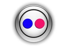 Design för knapp för Flickr budbäraresymbol beställnings- Arkivbild