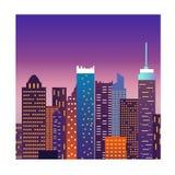 Design för konst för Cityscapeillustrationvektor stock illustrationer