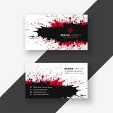 Design för kort för affär för abstrakt färgpulverfärgstänk röd svart vektor illustrationer