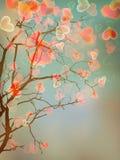 Design för kort för förälskelseträd. EPS 10 Arkivbild
