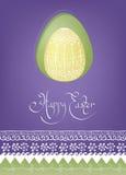 Design för kort för påskägg med folk garnering Royaltyfria Bilder