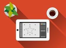 Design för lägenhet för illustration för begrepp för grafisk design med lång skugga Fotografering för Bildbyråer