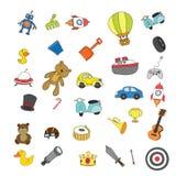 Design för leksakvektorsamling royaltyfri illustrationer