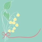 Design för liljekonvaljkortmodell Royaltyfri Fotografi
