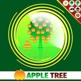 Design för logo för Apple fruktträdgård Arkivfoton