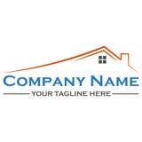 Design för logo för husbyggnad Fotografering för Bildbyråer