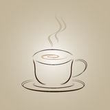 Design för logo för kaffekopp arkivbilder