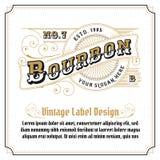 Design för logo för whiskytappningram stock illustrationer