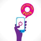 Design för lyckligt nytt år 2015 Fotografering för Bildbyråer