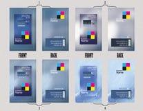 Design för mall för affärskort Arkivfoton
