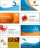Design för mall för affärskort - vektormapp stock illustrationer