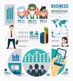 Design för mall för Infographic affärsjobb begreppsvektor Fotografering för Bildbyråer