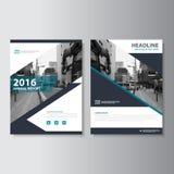 Design för mall för reklamblad för broschyr för broschyr för vektortidskriftårsrapport, bokomslagorienteringsdesign Royaltyfria Foton