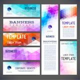 Design för mall för vektor för åtta abstrakt designbaner Fotografering för Bildbyråer