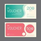 Design för mall för vektorpresentkortkupong pappers- etikettram stock illustrationer