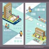 Design för mall för website för sida för utbildningsbegrepp ett stock illustrationer